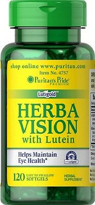 Puritans Pride Herbavision With Lutein And Bilberry X120 Softgels For Eye Health