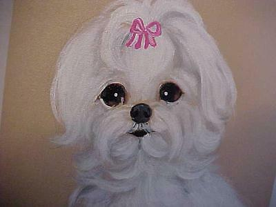 Reduced! Find Your Maltese Original Painting