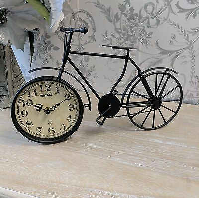 Bicycle Style Mantle Clock Shabby Chic Bike Vintage French Style Antique