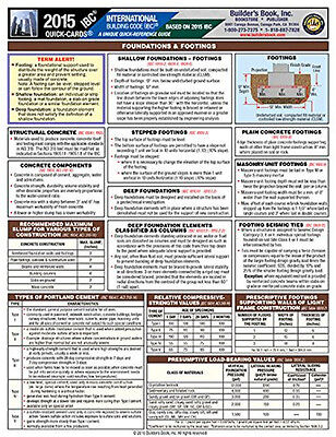 2015 International Building Code® (IBC) Quick-Card - Quick-Reference Guide - NEW