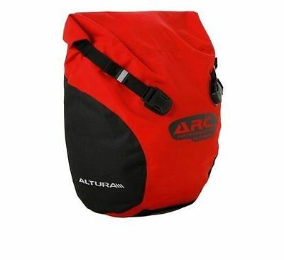 Altura Arc Roll 20 Litre Waterproof Bicycle Pannier Bag - Red - RRP£44.99