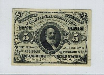 US. Fractional Currency 3rd Issue Five Cents 5c Clark