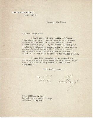 CALVIN COOLIDGE Signed Letter 30th PRESIDENT Typed Letter Signed Authentic COA