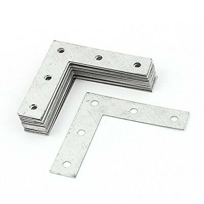 uxcell L Type Flat Metal Corner Braces Angle Brackets Plate Connector 20pcs