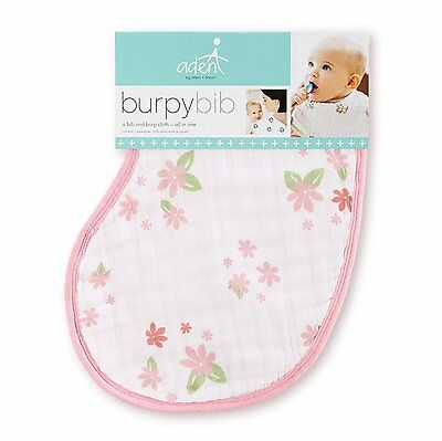 Aden and Anais Burpy Bib Single, Butterfly Patch #s303 NEW Free Shipping