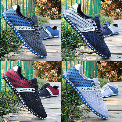 Fashion men's Shoes Summer Casual Breathable mesh Sneakers Sports Loafer Shoes