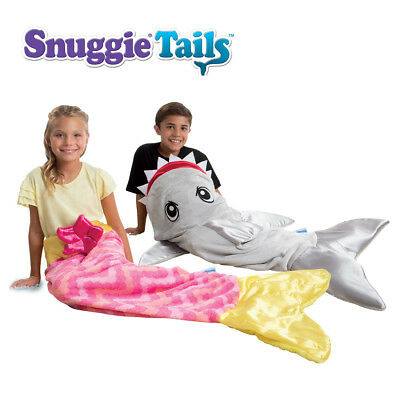Snuggie Tails Super Soft Fun Cuddly Velveteen Blanket Sleeping Bag For Kids