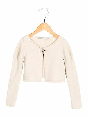 Christian Dior wool long sleeve cardigan gold-tone metallic threading 4 years