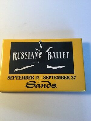 Rare Vintage Atlantic City Casino Pin Sands Russian Ballet Employee Only