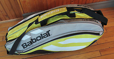 Babolat tennis bag - 6 pack - Yellow black white - excellent condition