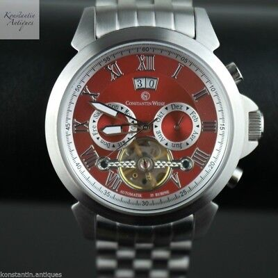 6dae8238887 CONSTANTIN WEISZ AUTOMATIC 35 jewels Open heart wrist watch Red dial ...