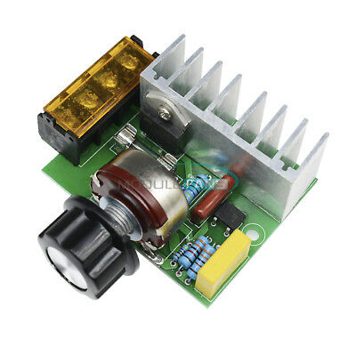 4000W 220V AC Voltage Regulator Dimmer Motor Speed Controller Module No Shell