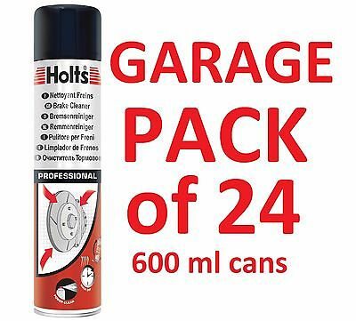 24x HOLTS PROFESSIONAL BRAKE AND CLUTCH CLEANER AEROSOL SPRAY 600ML 2 FULL CASES