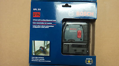 NEW BOSCH GPL 3 S 100FT 3-Point Self-Leveling alignment Laser