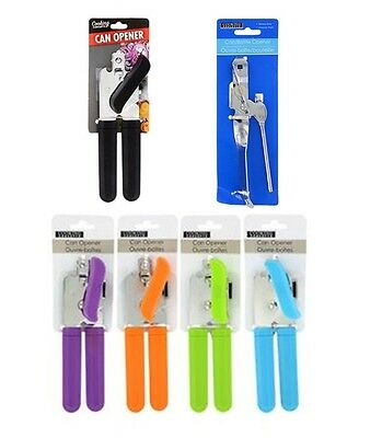 Cooking Concepts Can Opener w/ Grip Handle Chrome Steel Heavy Duty Choose Color