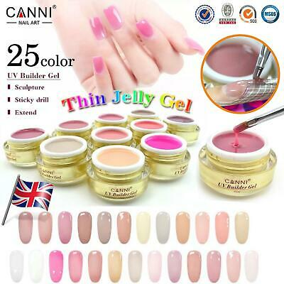 UV CLEAR BUILDER GEL CANNI Camouflage Cover Pink Nude Nails Extension 25 COLORS