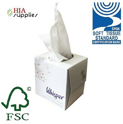 Whisper Luxi Premium 2Ply Cube Facial Tissues 70 Sheets x 24