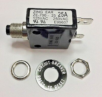 Zing Ear ZE-700-25A Thermal Circuit Breaker