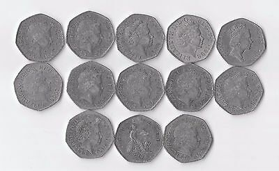 BRITANNIA CIRCULATED 50P / Fifty Pence Coin 1997 TO 2008 UK English