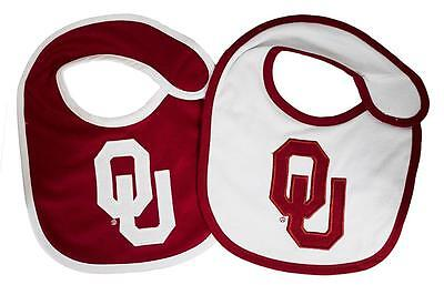 Oklahoma Sooners Infant Baby Bibs 2 Pack Red White