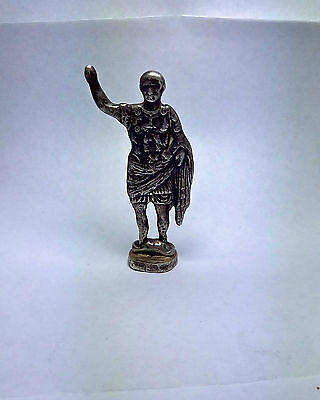 Silver Roman Soldier Statue of Warrior Figure Rare old Antique