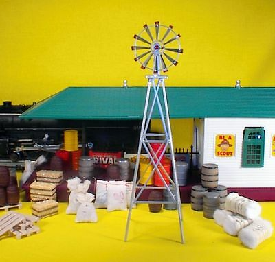 Aussie Style Windmill  metal fully assembled - Model Train Accessories/Scenrey