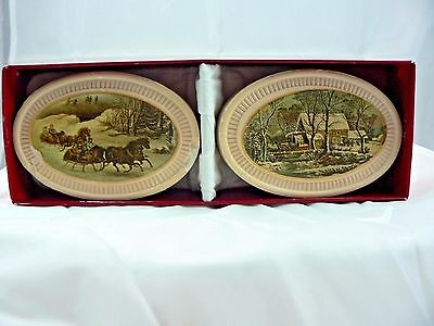 AVON 1876 Winterscapes Currier & Ives Soap Christmas
