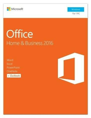 Microsoft Office Home and Business 2016 For 1PC Key Card T5D-02776 Retail Box