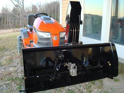 """48"""" Northeast Snow Blower Attachment for tractor, including weights and chains"""