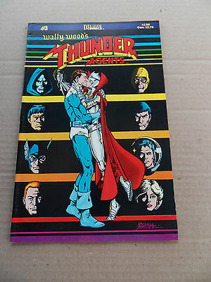 Wally Wood's T.H.U.N.D.E.R  Agents 3 . Deluxe Comics . 1985 -  FN / VF
