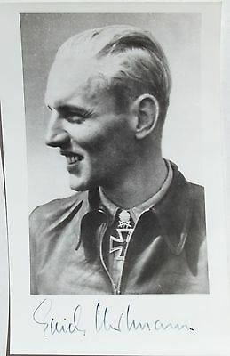 Erich Hartmann German All Time Leading Fighter Ace 352 Victories Signed Photo #5