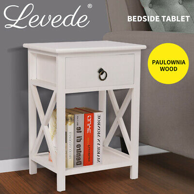 Bedside Tables Drawers Lamp Chest Table Nightstand Unit Cabinet Storage