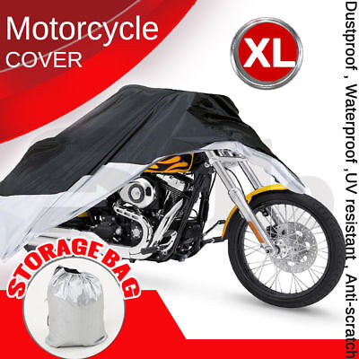 XL Large Motorcycle Waterproof Outdoor Vented Motor Bike Scooter Dust Rain Cover