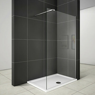 700/760/800/900 Shower Enclosure Walk In Wet Room 6mm Glass Cubicle Screen Panel
