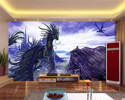 Fantasy Dragon Creature Full Wall Mural Photo Wallpaper Print Kids Home 3D Decal