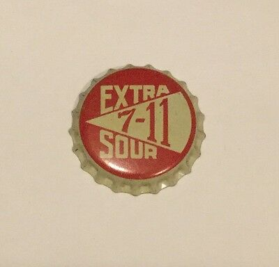 Vintage 7-11 Extra Sour cork lined soda/mixer bottle cap