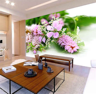 Flower Soft Floral Life Full Wall Mural Photo Wallpaper Print Kids Home 3D Decal