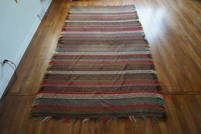 "LARGE ANTIQUE PAISLEY SHAWL 5'3""x9'7"""