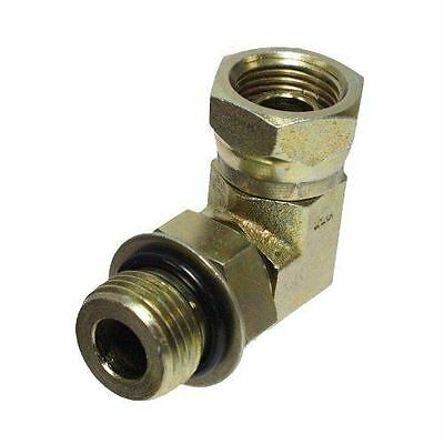 "Apache 39006125 1/2"" Male O-ring Boss x 1/2"" Female Pipe Swivel 90° Hydraulic..."