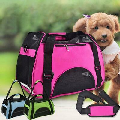 Nylon & Mesh Pet Carrier Soft Sided Cat Dog Comfort Travel Tote Bag Travel