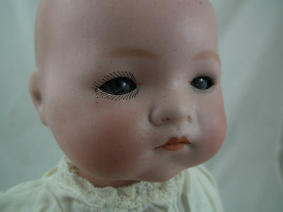 "AM Armand Marseille DREAM BABY 12"" DOLL Bisque Head Cloth Body ORIGINAL GOWN"