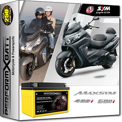 AGM Battery YTZ14S for SYM Scooter Maxsym 400 i Maxsym 600 i 12-16 12v 11.2Ah