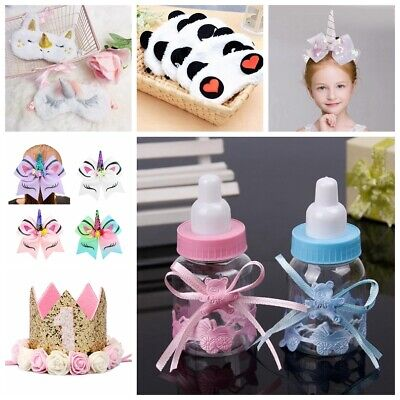 12Pcs Baby Shower Fillable Candy Bottles Box Boy Girl Christening Party Favor