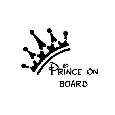 Kids Bumper Car Sticker Prince On Board Decal Vinyl