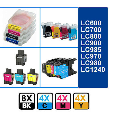 20 Ink Cartridge for Brother LC970 LC980 LC1280 1240 900 600 700 800