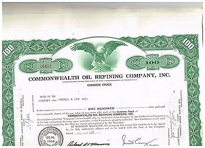 Wholesale-Lot 25 Commonwealth Oil...Puerto-Rico....1960s, green