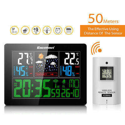 STAZIONI METEO LCD LED digitale wireless COLORE previsione Temperatura Umidità