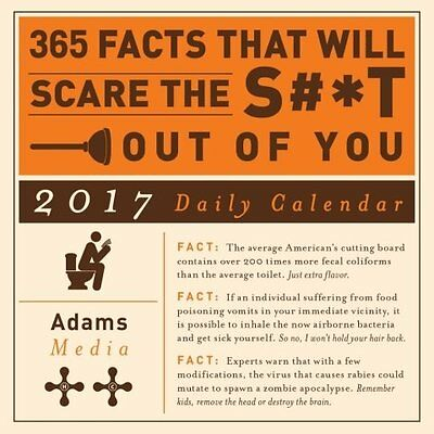 2017 365 Facts That Will Scare the S#*t Out of You Daily Desk Calendar