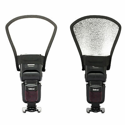 Universal Foldable Flash Snoot Speedlite Softbox Diffuser Speedlight Reflector