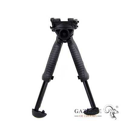 Aukmont Tactical Swivel Foldable Bipod Military Foregrip 20mm Picatinny Rail